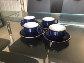 4 Martell Cognac Coffee Cups and Saucers