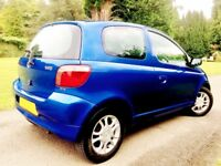 A STRIKING IMMACULATE YARIS. LOW MILEAGE. LONG MOT. SERVICE HISTORY. FROM A GOOD HOME.