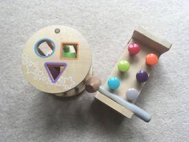 Shape sorter and nail/hammer block