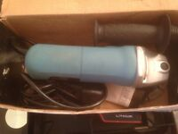 erbauer 115mm angle grinder ( used )