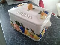 RAYWARE COUNTRY KITCHEN BREADBIN - RAISED FRUITS DESIGN - £22 ONO