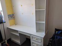 Desk + bookshelf