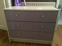 Malibu 3 Drawer Wide chest lilac.
