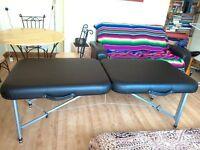 Massage folding lightweight portable aluminium table, stool, and trolley cart