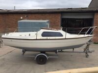 SANDPIPER 565 TRAILER SAILER YACHT BOAT SAIL SAILING DINGHY TRAILER OUTBOARD 18