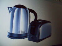Kettle And Toaster Lincoln Twin Pack Russell & Hobbs Polished Stainless Steel New Unopen