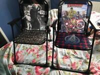 2 x kids folding chairs