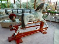 VINTAGE HADDON ROCKING HORSE DAPPLE GREY EARLY DIDCOT MODEL