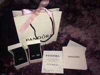 Pandora Bow Ring & Earrings