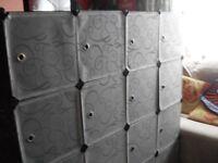 Langria plastic cube storage system.