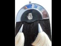 Lawrie Horse Hair Sporran. Bagpipes