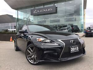 2015 Lexus IS 250 F-Sport Series 3 AWD Navi Back Up Cam  Sunroof