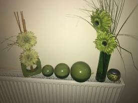 Lime Green Vases & Accessories from Next Fantastic Bundle Ex Condition