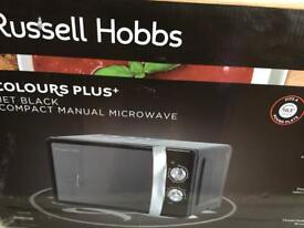 Russell Hobbs colour plus jet black microwave RRP £64.99