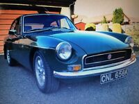 MGB gt. 1972 Britsh racing green