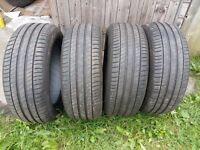Set of Michelin tyres, 225/55R17