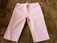 New pink three quarters shorts size 10