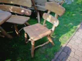 Solid, heavy, Handmade Wooden Garden Furniture Oak - chair