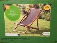 Two deck chairs brand new still in boxes