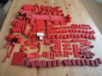 Mixed red bricks