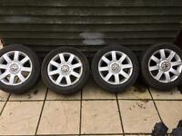 Vw 5x112 golf alloy wheels,205 55 16 Pirelli tyres