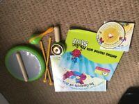 Children music set with music accessories
