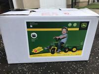 Children's ride on John Deere pedal tractor - new, in box