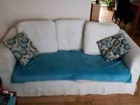 2 three seater sofas