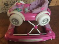 Pink car walker
