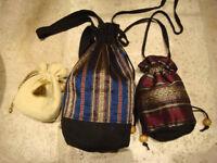 Set of 3 silk pouches