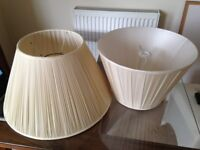 LAMP SHADES; Stretched Satin fabric (large and medium size)
