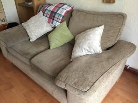 Fabric sofa perfect for rental home or child's bedroom