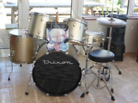 Trixon Drum Kit with stool and starter book