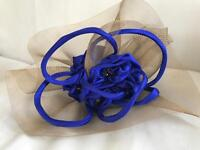 Stunning Bespoke Electric Blue & Gold Headband Fascinator