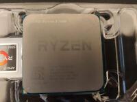 CPU Ryzen 5 1600 6-core 12-threads 3.2GHz base 3.6GHz boost w/ Cooler and box