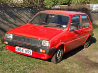 Austin Metro City X 1984 for restoration. Starts and runs stored in garage for 10 years. Extra parts