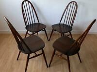 Ercol quaker chairs 4off