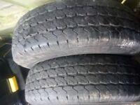 2 new 215/75/16c van tyres on transit rims