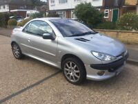 Peugeot 206 2005 1.6 16v Coupe Cabriolet Allure **NEW 1 YEAR MOT**