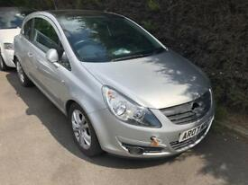 CORSA 1.7 CDTI SXI 07 REG IN SILVER SOLD AS SPARES OR REPAIRS AS NEEDS ECU