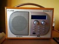 Pure DAB radio, perfect condition, with original power supply