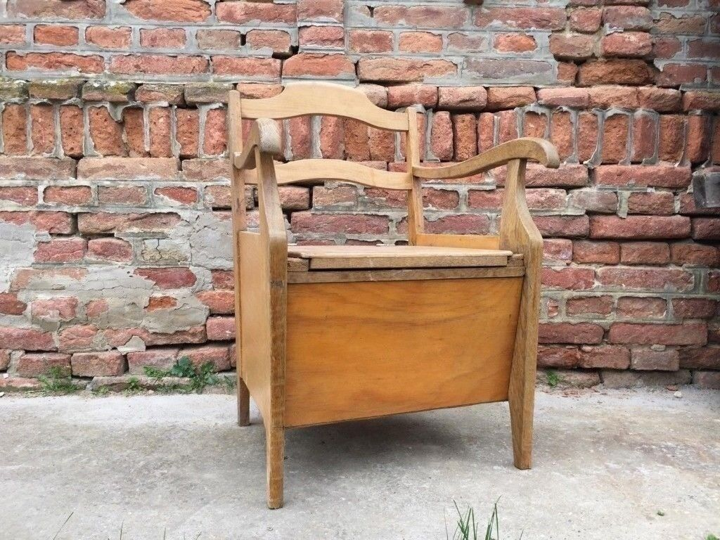 Commode Vintage Seat With Toilet Composting Toilet Off Grid Living