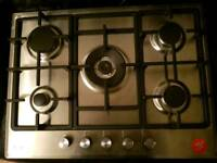 Brand New Beko 5 burner 68cm stainless steel gas hob