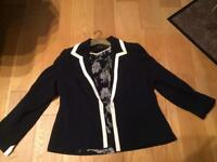 Jacques Vert Jacket and Blouse Size 18