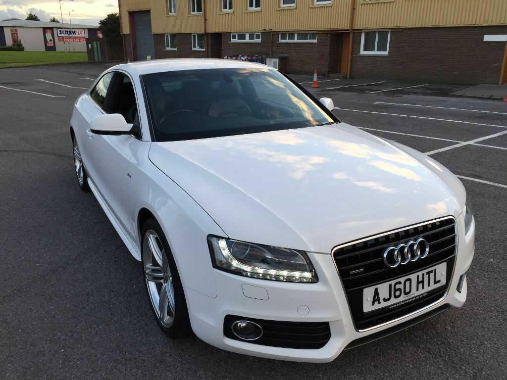 audi a5 coupe s line quattro white rare manual. Black Bedroom Furniture Sets. Home Design Ideas