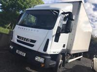 Iveco euro cargo ideal horsebox conversion box lorry with tail lift 7.5t automatic