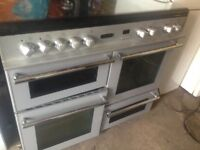Leisure Silver Gas Cooker 100cm.......Mint Free Delivery