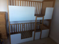 Shanticot bunk cot bed for twins or baby and older child. 2 cots 2 beds or one of each