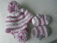 NEXT Girls hat and mitts set - Age 5 / 6 years