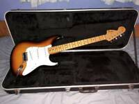Fender 1997 Jimi Hendrix 'Voodoo Strat' in 2 tone sunburst & Maple cap